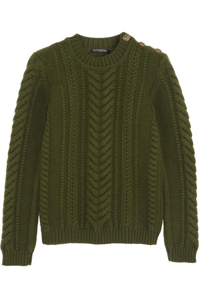 A nice cable knit sweater from Balmain