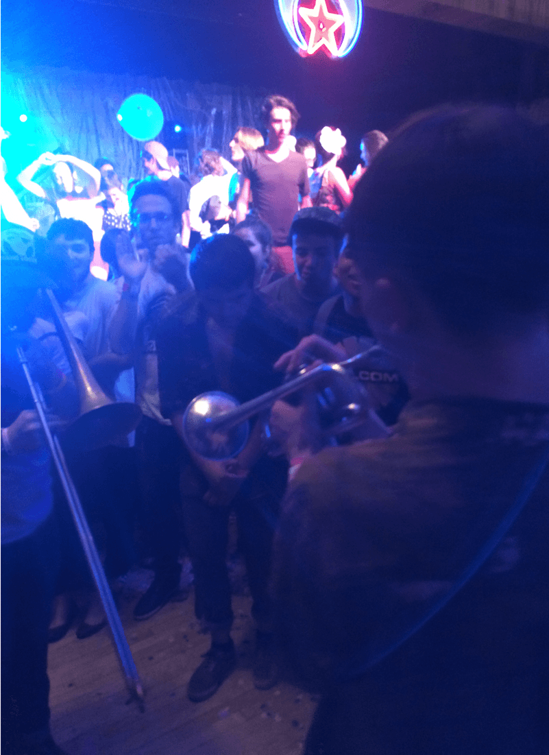 Alex Toth on trumpet joining us in the crowd for the encore