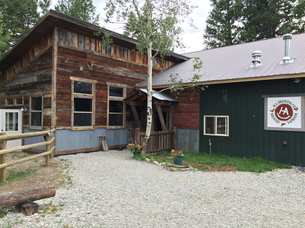 ha brewing is located a few miles down grave creek road, about 10 miles south of eureka on 93