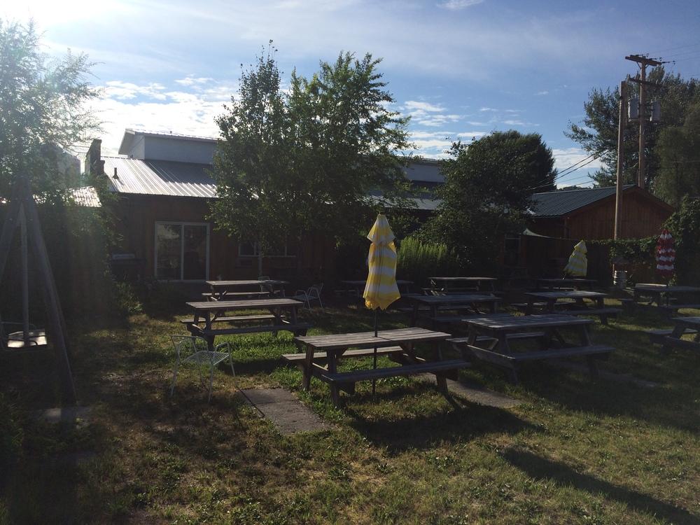 Outdoor beer garden