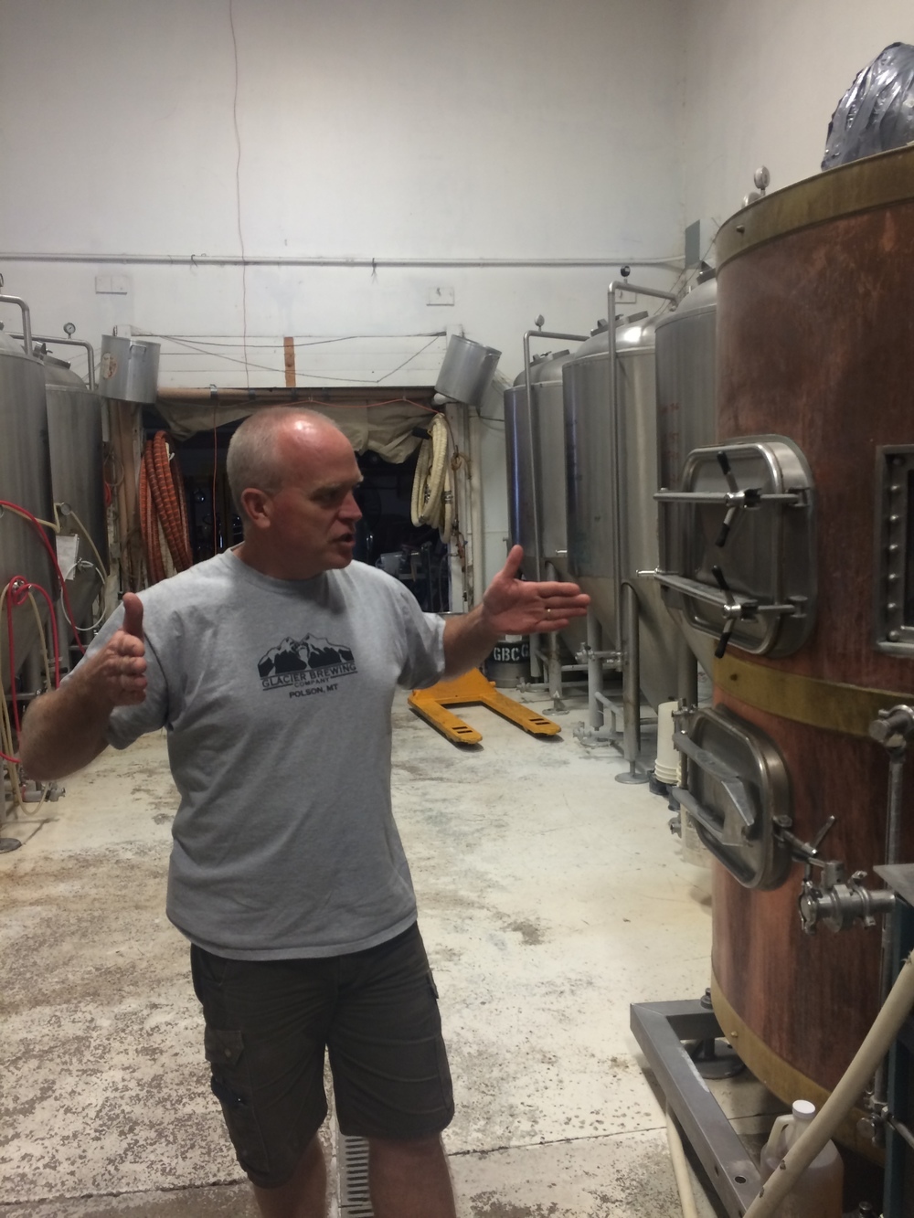 """Dave Describes pick up the brewery equipment andtrying to fitthe tanks through double doorswhich he describes as being """"adark time"""""""
