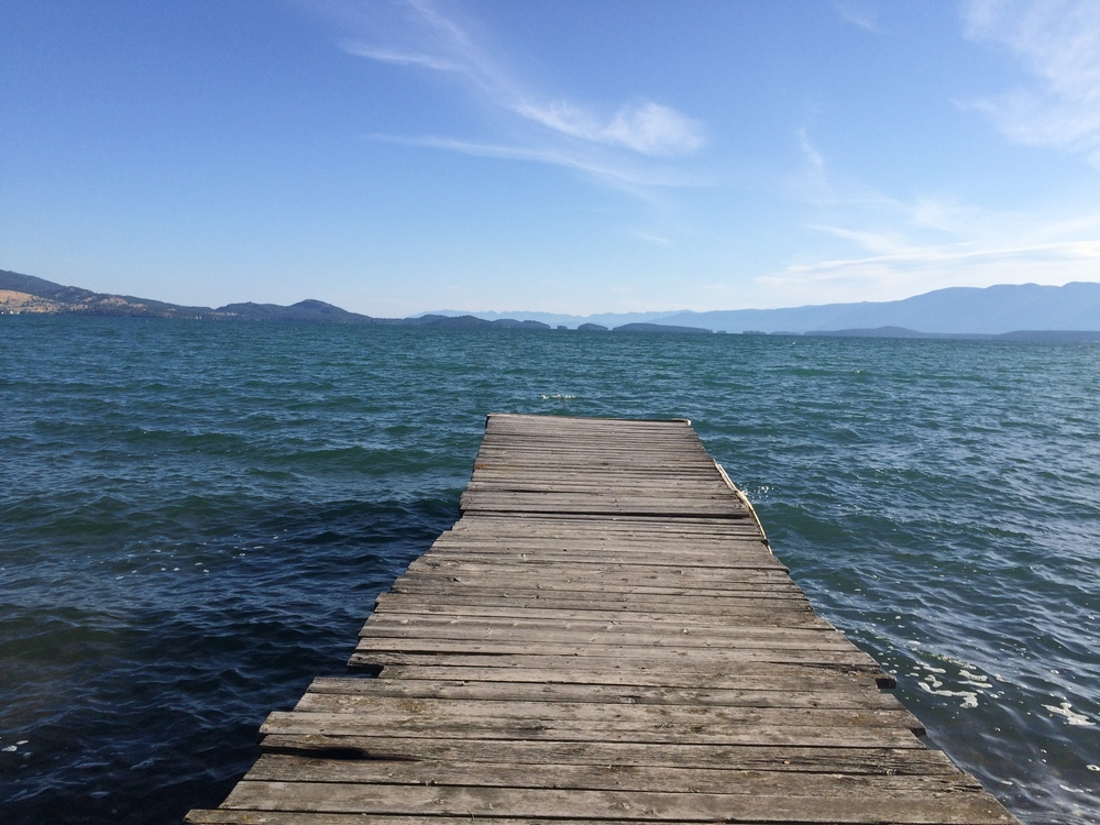 Polson is on the south end of Flathead Lake. The largest natural lake west of the mississippi river.