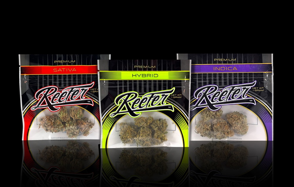 Reefer flowers available in 1g, 2g, 3.5g and 7g packaging.