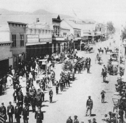 Downtown San Rafael circa 1890