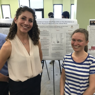 Shira Layni (B.S. Biology 2018) and Enjolie Levengood (M.S. Biology 2017)
