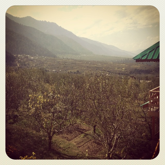 View from our building in Manali.