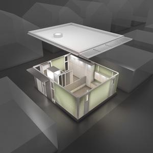 2013 - Glass Brick Laneway House