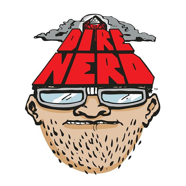 Dire Nerd Studios has its new official logo! #videogames #gamedev #newlook #newlogo  #geek #nerd #gamer #gamergirl #indiegame #metroidvania #neckbeard #d20 #somanyhashtags #toomanyhashtags #hashtagmania