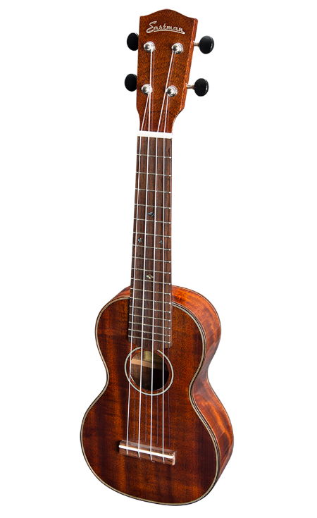 UKULELE Fretted instruments were first introduced to Hawaii by Portuguese immigrants in the nineteenth century and by the early twentieth century, the island variations of these instruments known as ukuleles began to make their way to the mainland United States. Eastman Guitars is introducing the Traditional Series EU3S Soprano Ukulele, EU3C Concert Ukulele and the EU3T Tenor Ukulele.  Price Range: $475 - $539