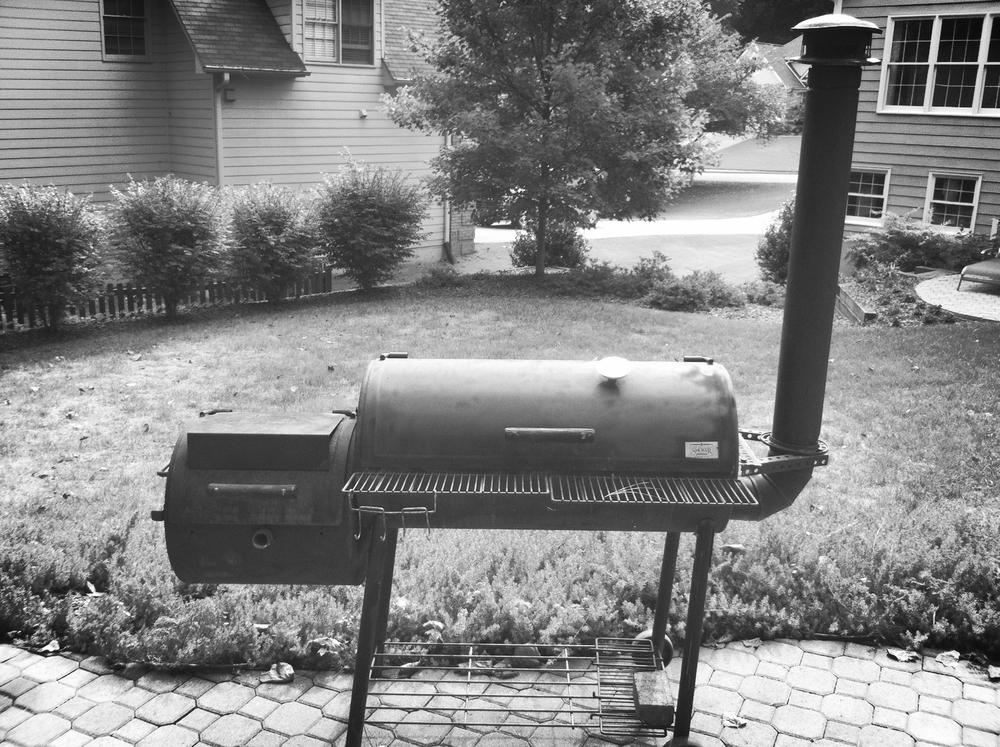 Pete's original smoker, 15 years ago