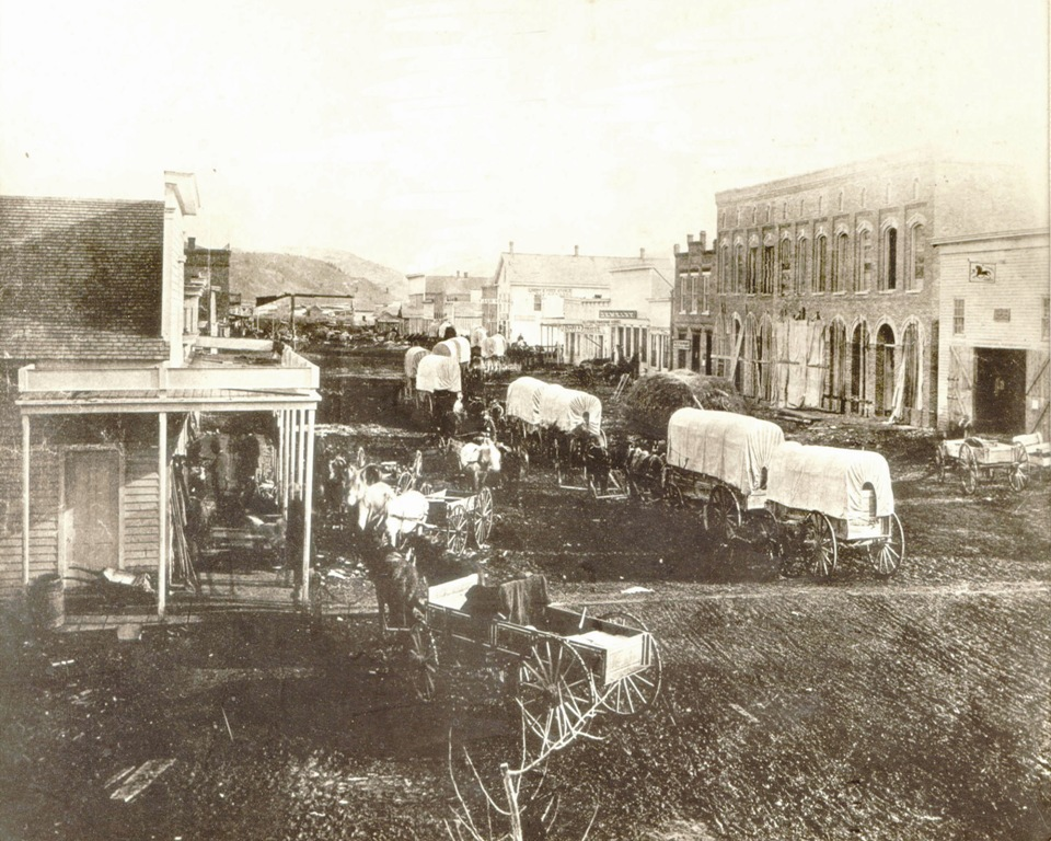 1873 - Wagon Train Travel through Bozeman