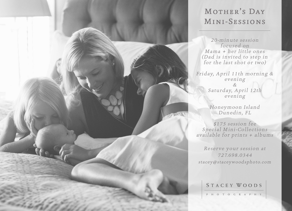 Mothers Day Mini Sessions with Stacey Woods