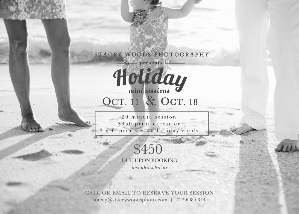 Holiday Mini Sessions Clearwater Beach