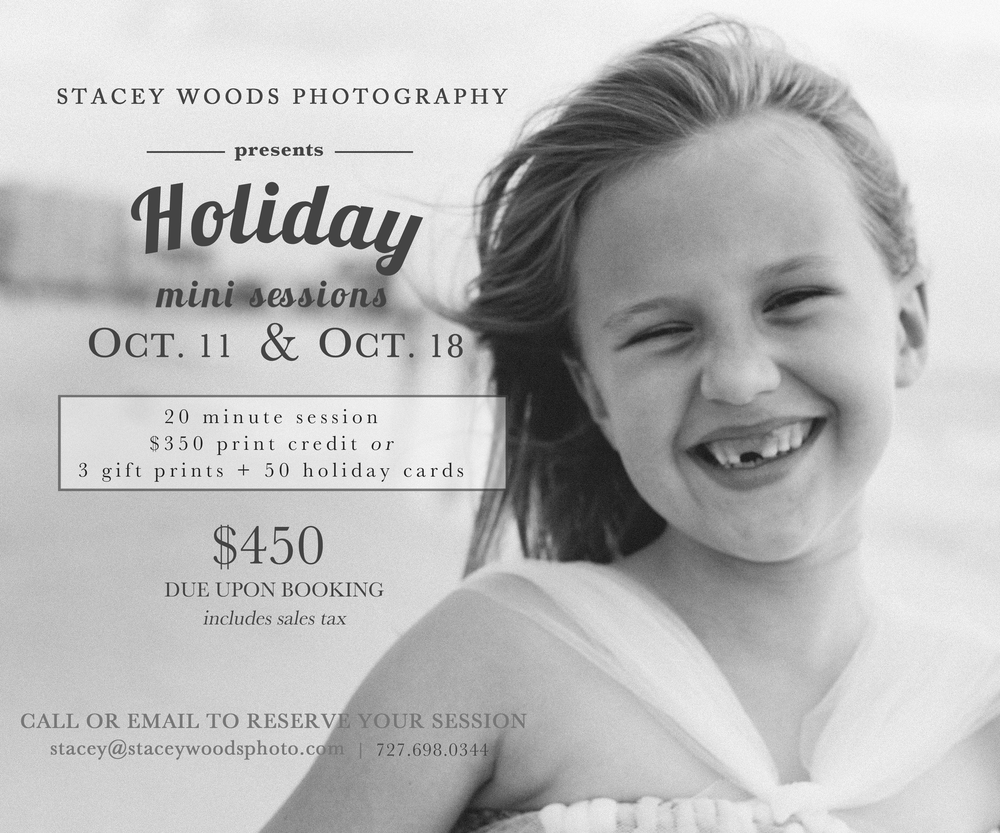 Stacey Woods Holiday Mini Sessions Clearwater Beach Photos