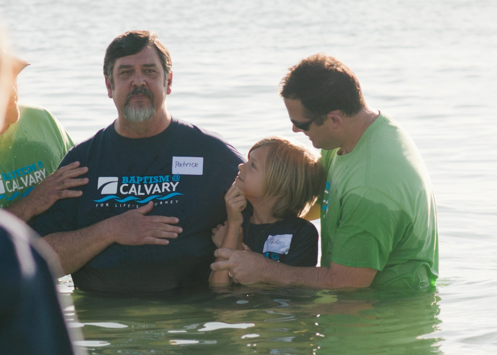 Beach Baptism at Calvary Church: Stacey Woods