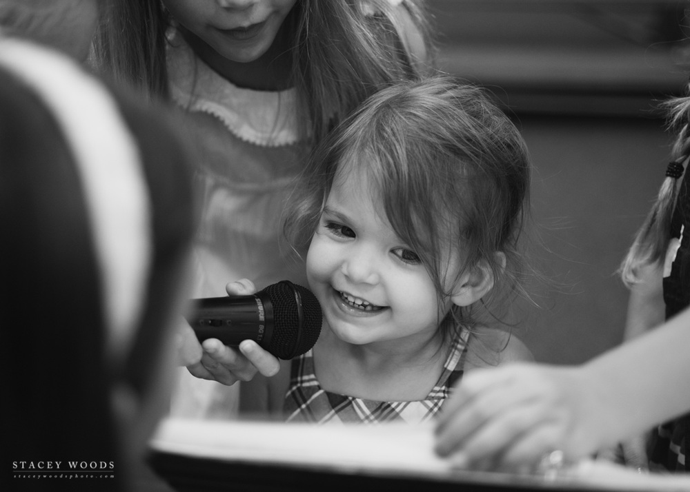 Charlotte at Lila's school concert