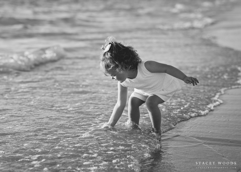 Kids beach photography by Stacey Woods