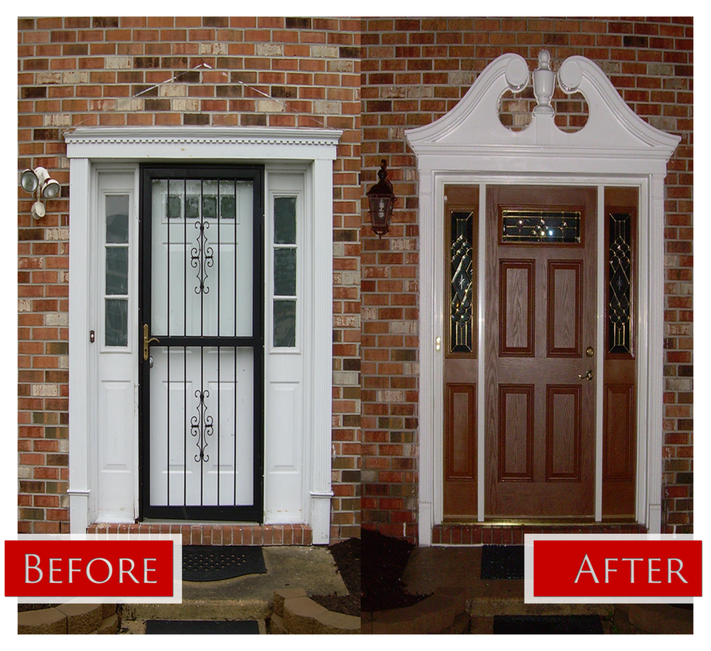 residential door before after