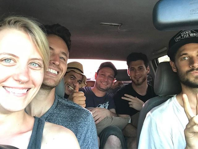 The sound team made it to Panama.  Fortunately we can all fit into one 4x4 Toyota Helix. @carlos_monterocamacho_ @cbradshaw09 @miahidema @beaudoesgo #panama #fundraiser #gofundme #buildahome @kate_mcfiercson