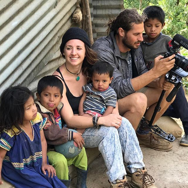 @brittalalena and @miahidema taking a break with some of the kids. . . . #panama #hardwork #mountain #fundraiser #gofundme #breaktime #kids #smile #happy