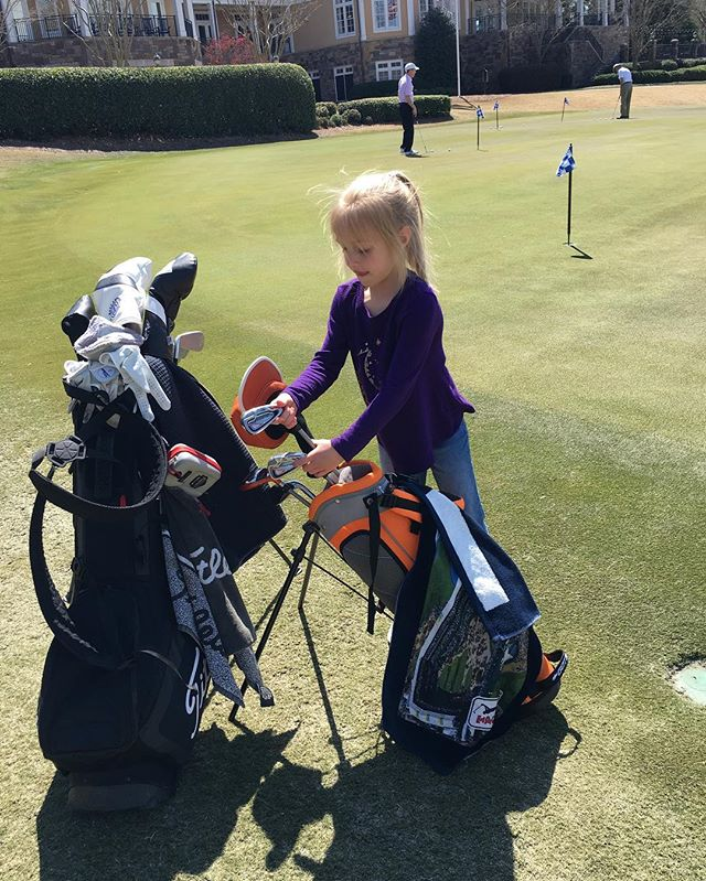 She golfs. #clubfoot #charlotte
