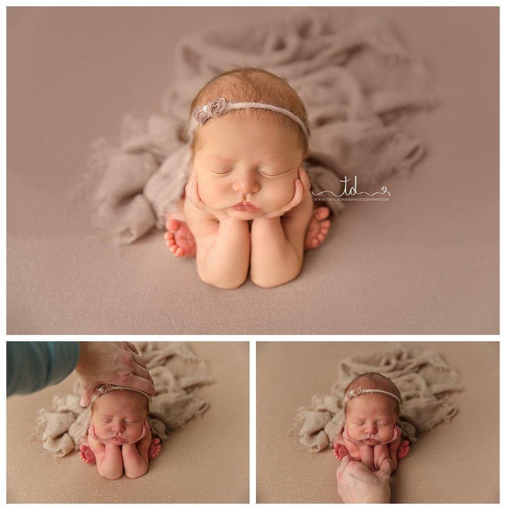 Newborn Froggy Pose composite | Utah Newborn Photographer #twyladawnphotography