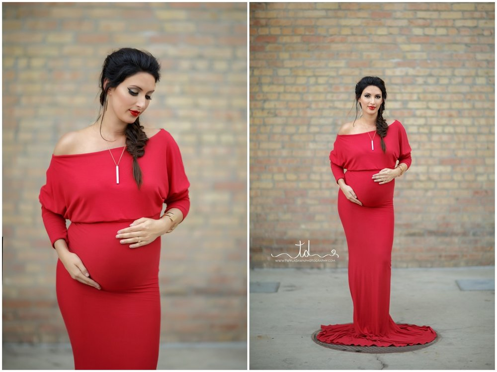 Red Jaden Maternity Gown | Twyla Dawn Photography
