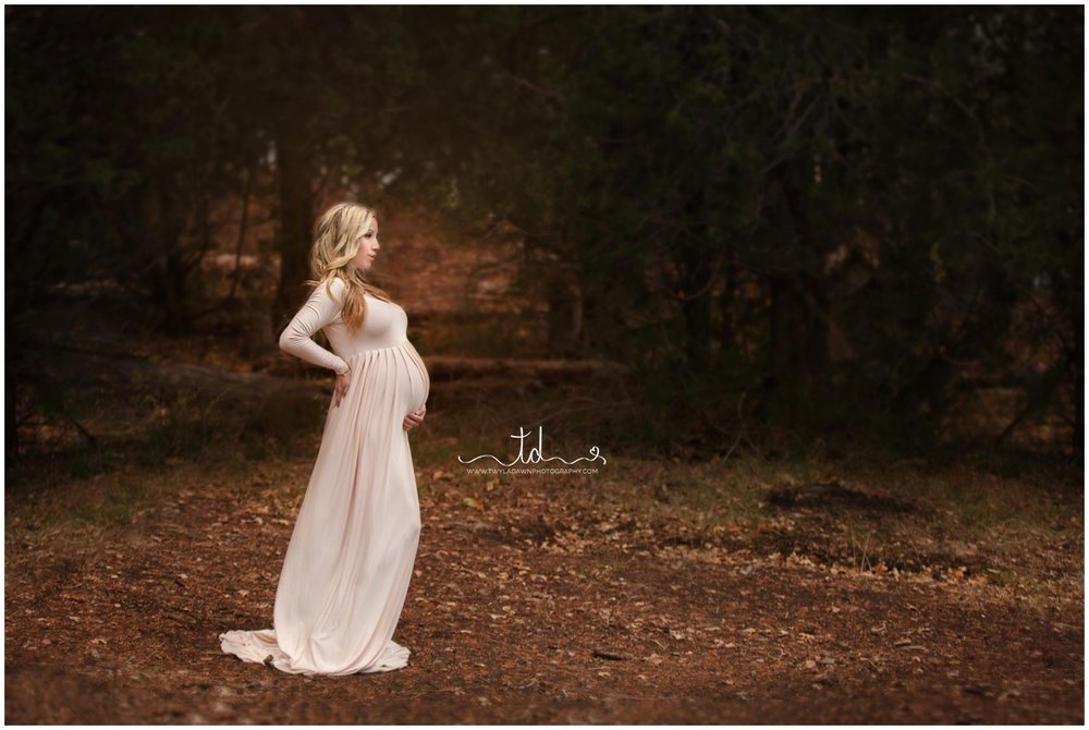 The Miriam Maternity Gown in Champagne | Twyla Dawn Photography