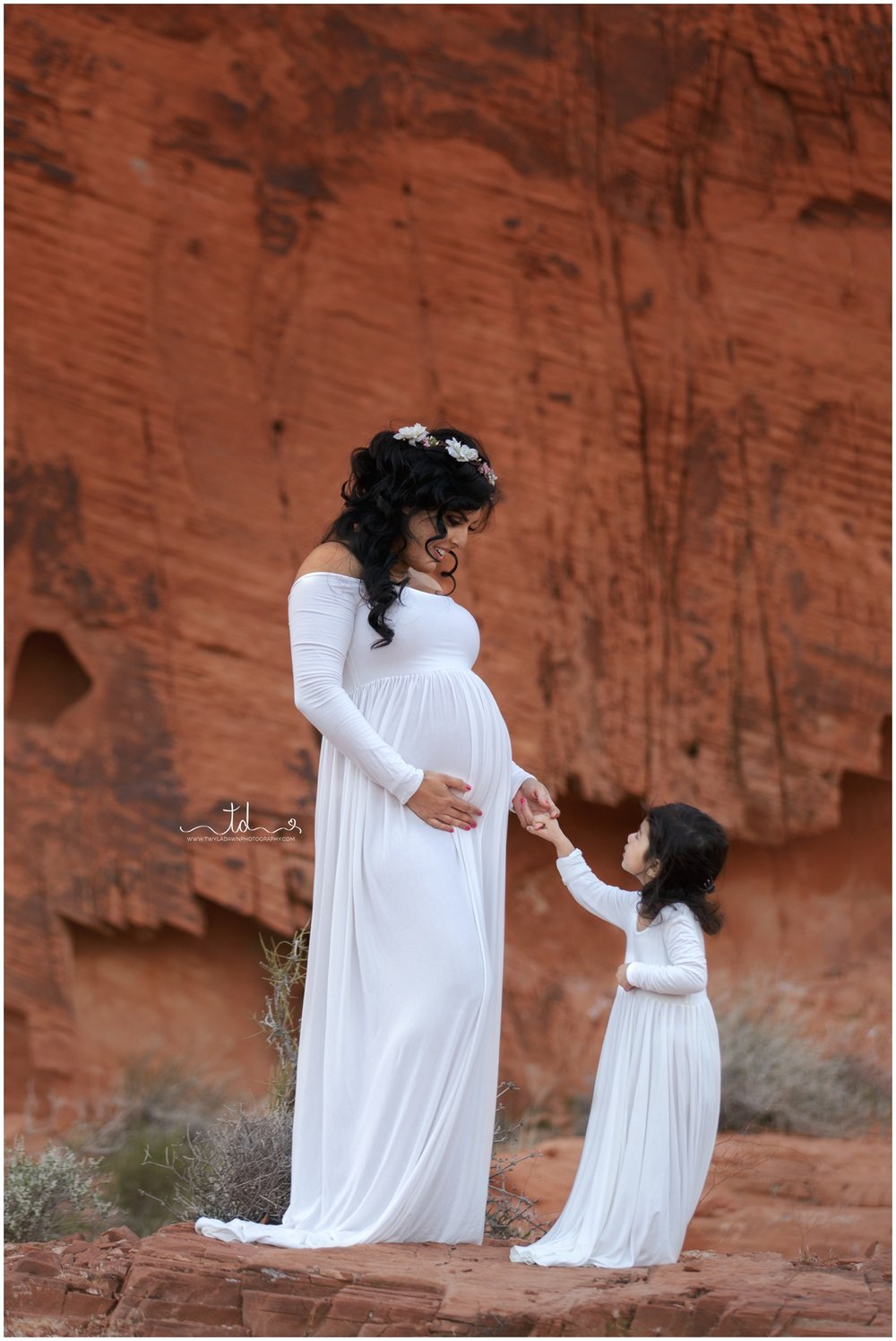 Mommy and Me matching Miriam Gown in Ivory | Utah Maternity Photographer | Twyla Dawn Photography