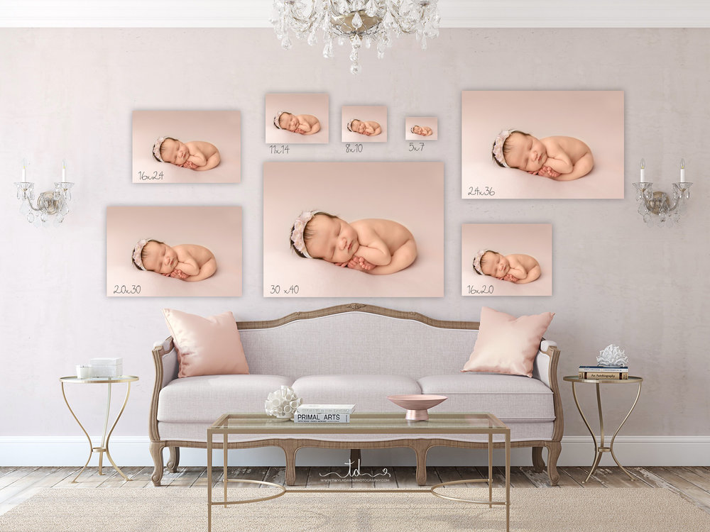 Canvas and Print Sizes | Dress your walls | Utah Newborn Photographer #twyladawnphotography