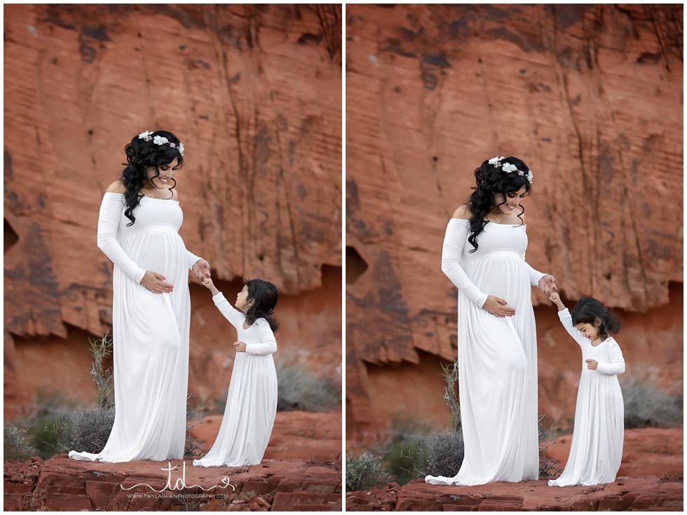 Utah maternity photographer | Gown maternity Session | #twyladawnphotography