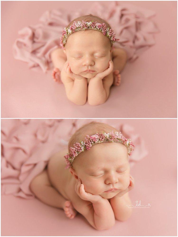 Utah newborn photographer all pink girl session newborn perfect petite twyladawnphotography