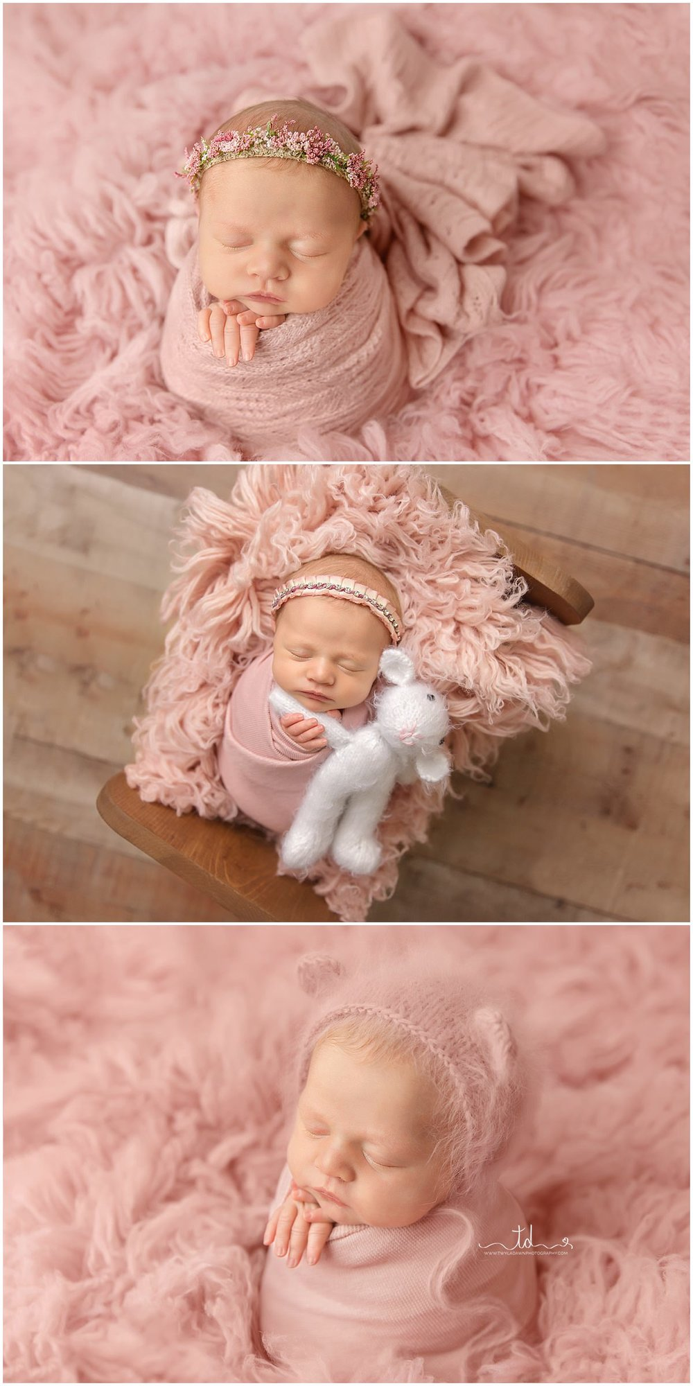 Utah Newborn Photographer | All Pink Girl Session | Newborn Perfect Petite | #TwylaDawnPhotography