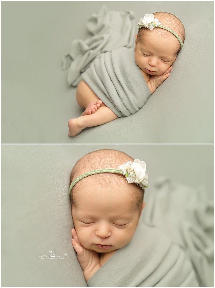 Utah baby photographer utah newborn photographer pink and sage newborn session twyladawnphotography