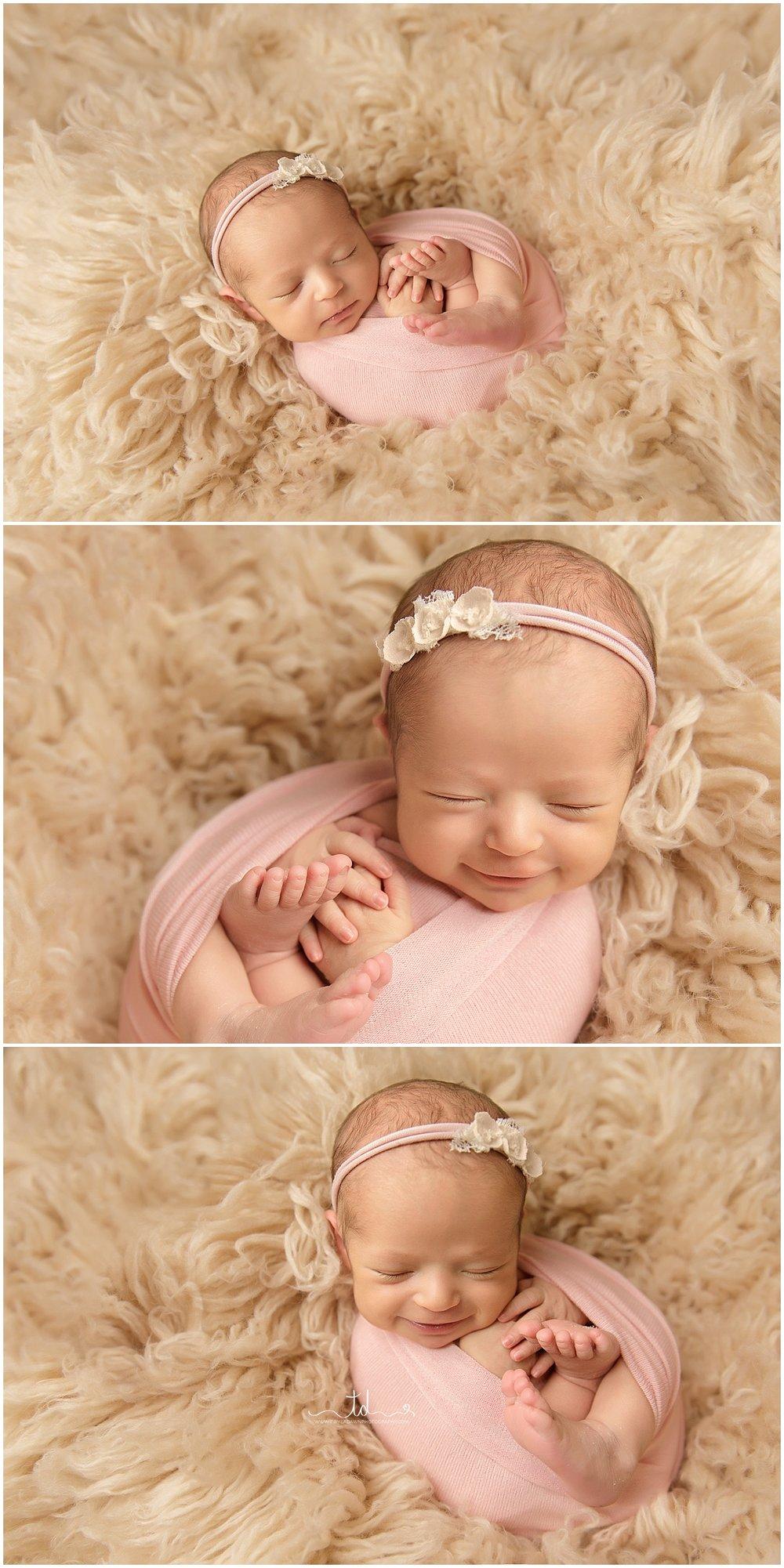Utah Baby Photographer | Utah Newborn Photographer | Pink and Sage Newborn Session #twyladawnphotography