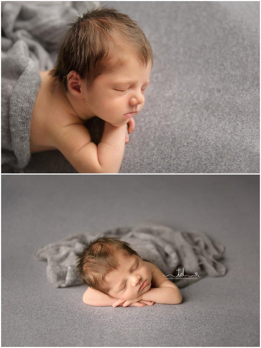 Utah Baby Photographer | Newborn Studio Session | Newborn Photography #twyladawnphotography