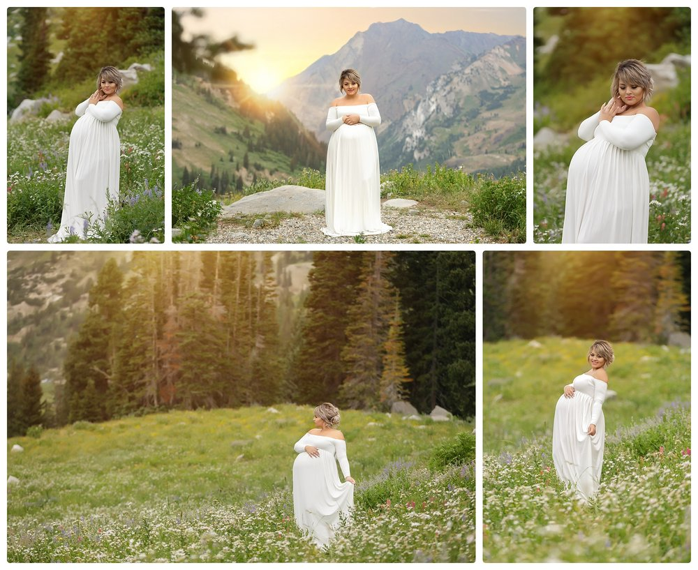Utah maternity photographer | Utah pregnancy photography | Best maternity photography in Utah | Wildflower maternity session