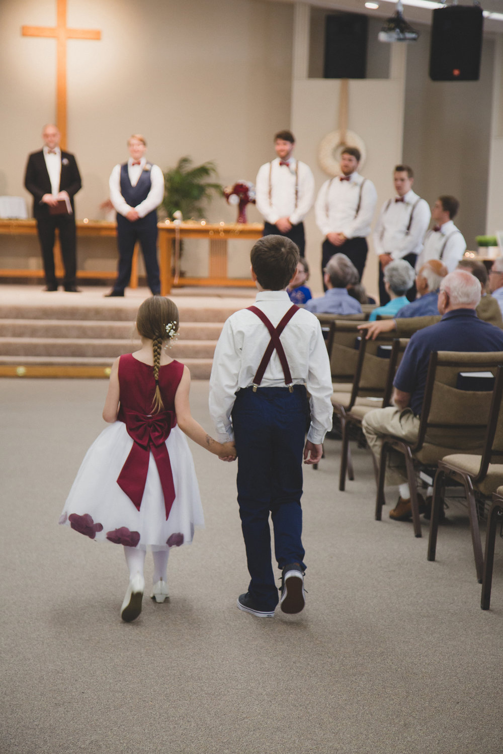 Tri Cities Wedding Photographer_Karis and Adrienne_Church wedding_Grace United Reformed Church 2 Flower Girl Ring bearer