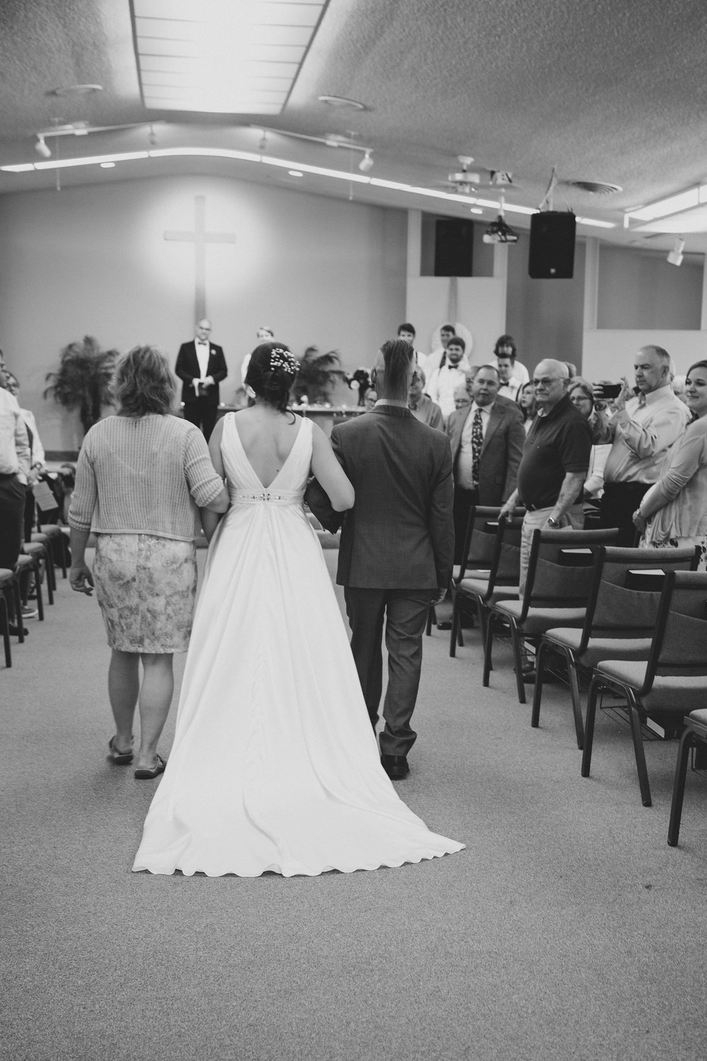 Tri Cities Wedding Photographer_Karis and Adrienne_Church wedding_Grace United Reformed Church 4 Bride walking in