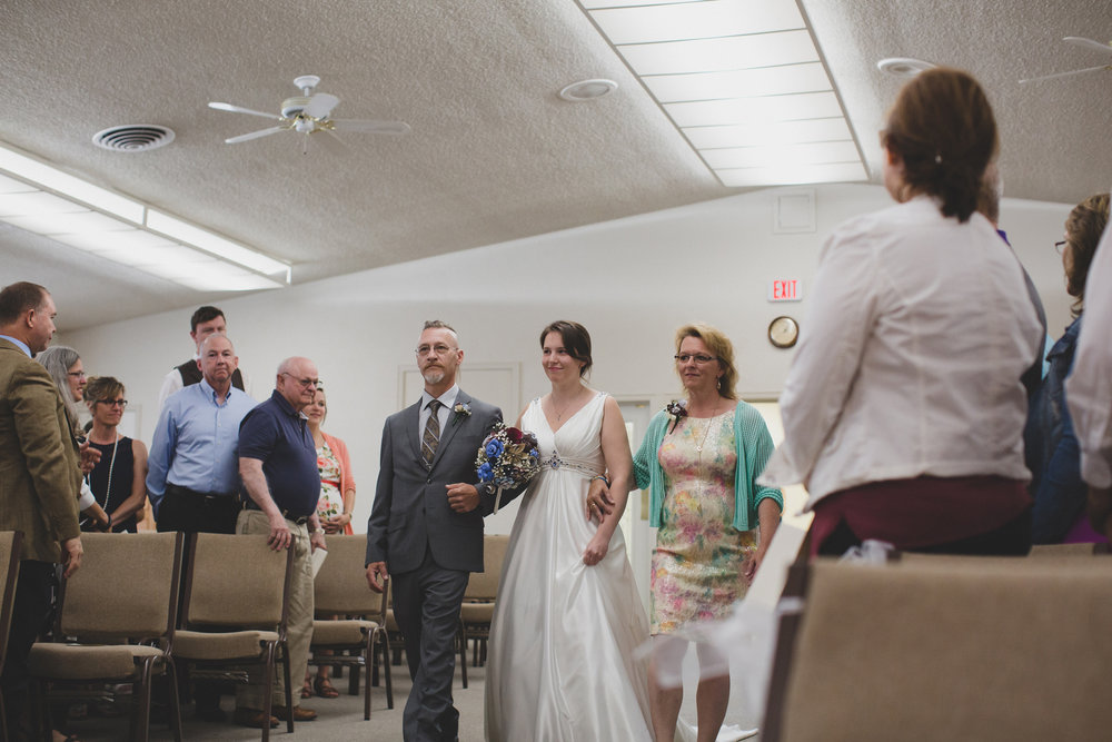 Tri Cities Wedding Photographer_Karis and Adrienne_Church wedding_Grace United Reformed Church 3 Bride walking in