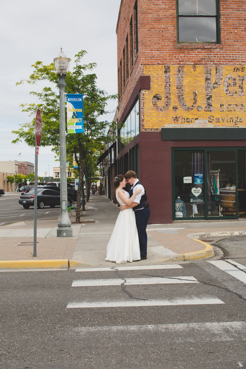 Tri Cities Wedding Photographer_Karis and Adrienne_Church wedding_ Downtown Kennewick 9_Old JC Pennys building