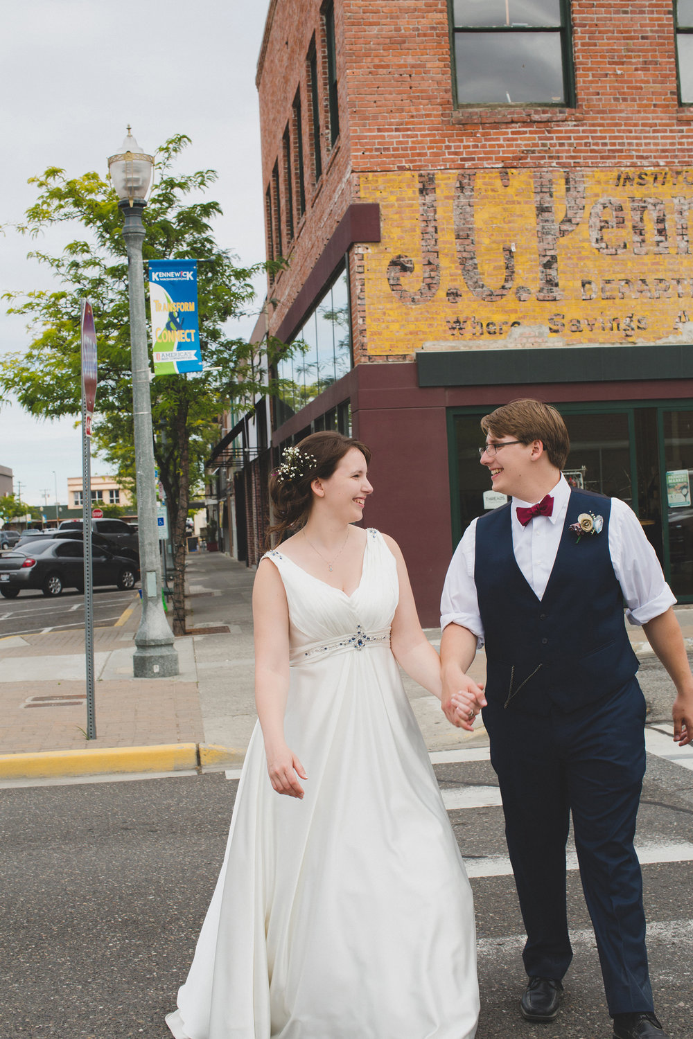Tri Cities Wedding Photographer_Karis and Adrienne_Church wedding_ Downtown Kennewick 10_Old JC Penny Building