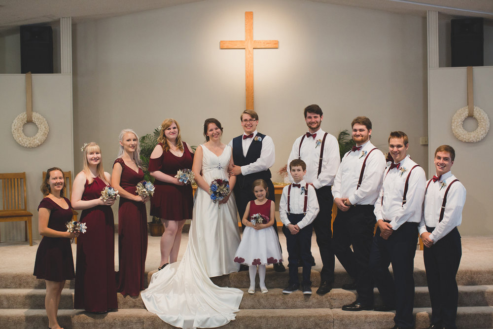 Tri Cities Wedding Photographer_Karis and Adrienne_Church wedding_Bridal Party 1
