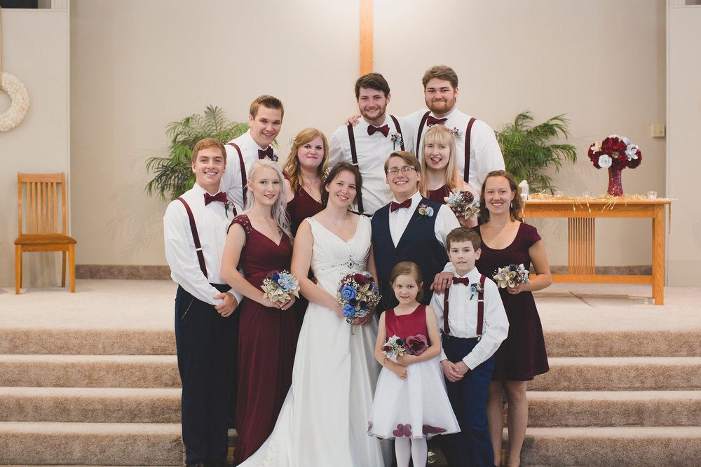 Tri Cities Wedding Photographer_Karis and Adrienne_Church wedding_Bridal Party 2