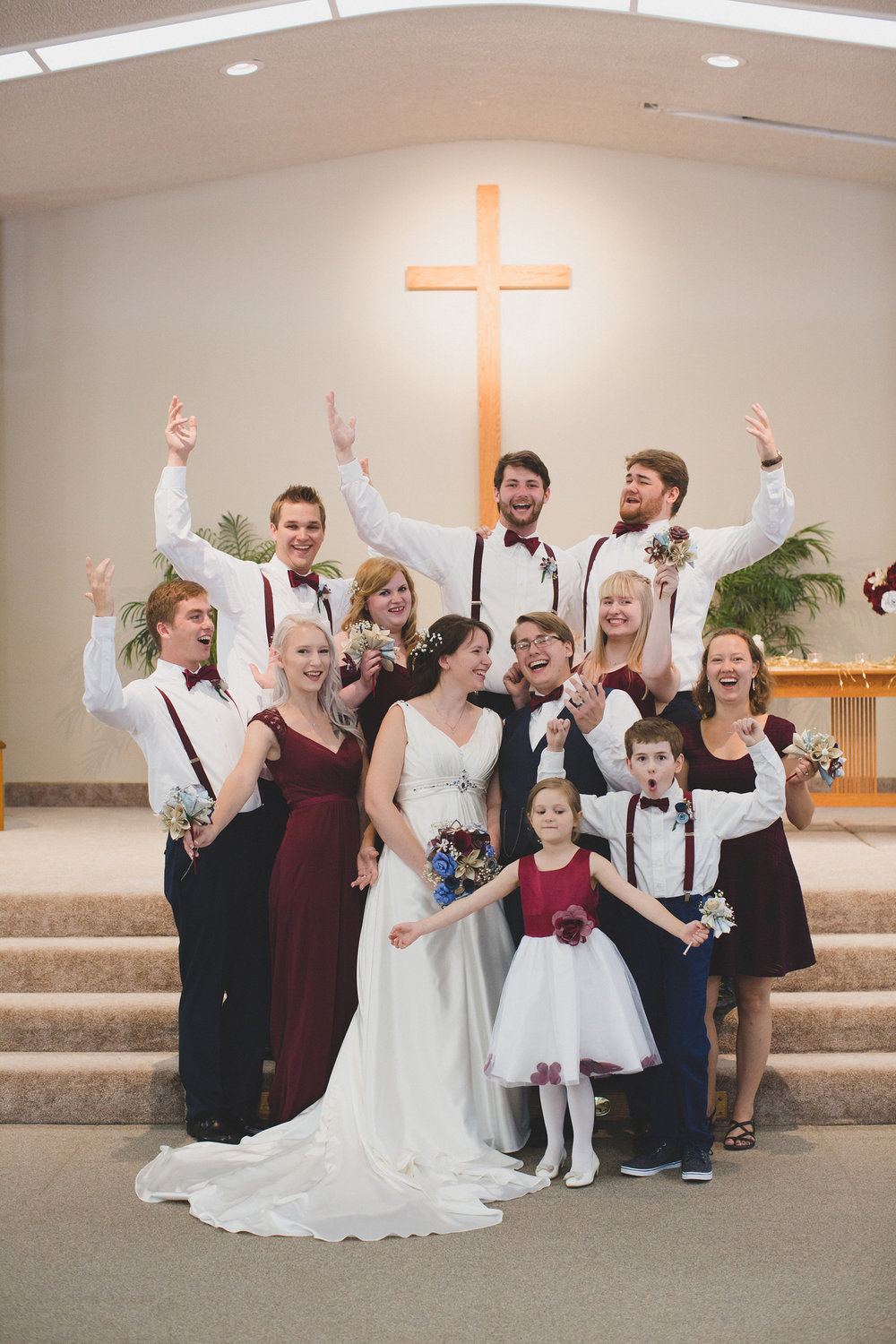 Tri Cities Wedding Photographer_Karis and Adrienne_Church wedding_Bridal Party 3