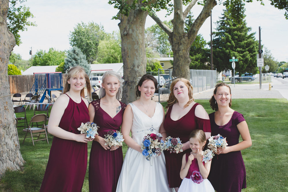 Tri Cities Wedding Photographer_Karis and Adrienne_Church wedding_Bridal Party 5