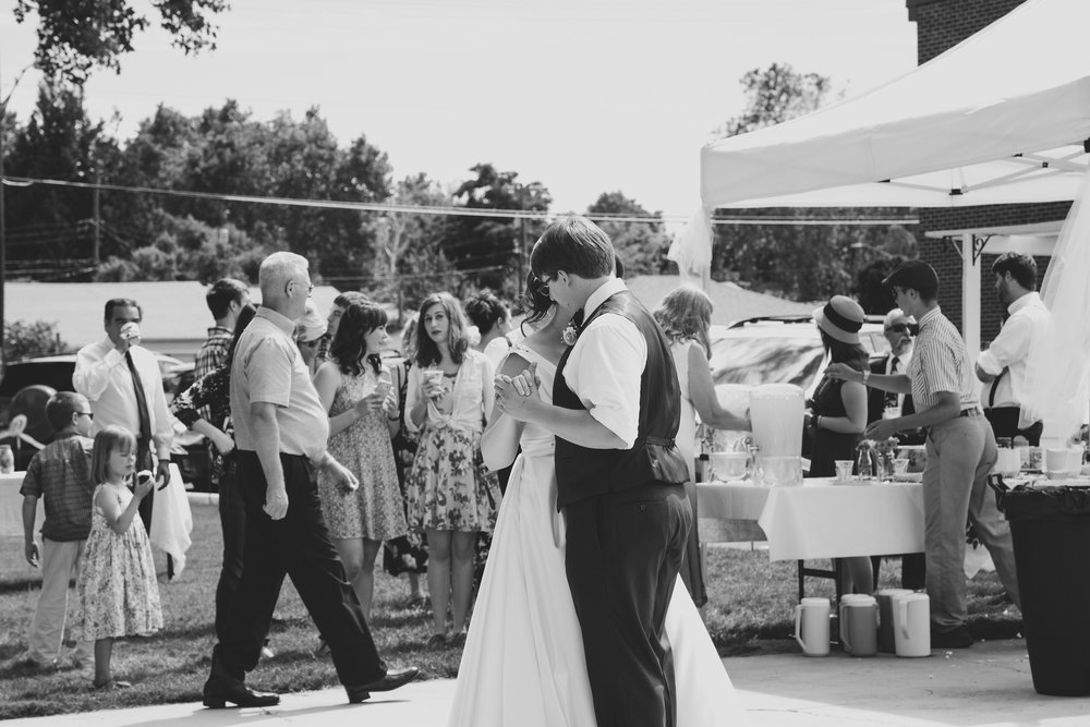 Tri Cities Wedding Photographer_Karis and Adrienne_Church wedding_Outdoor Reception 9 First dance
