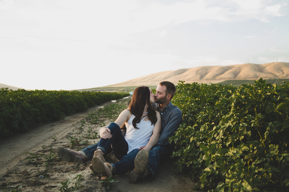 Tri Cities sunset engagement session_desert engagement_Vineyard engagement_Jordyn and Drew_Jordan Edens Photography_JEP_potato field_desert_mountains_badger mountain_fields_4