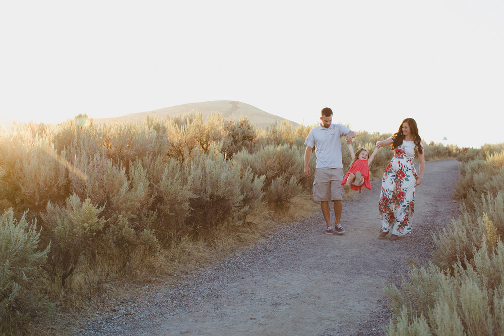 Tri Cities family session_Campbell family_sunset session_desert session_Lifestyle family session_floral dress_7