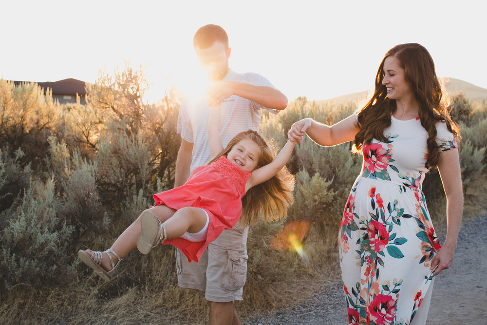 Tri Cities family session_Campbell family_sunset session_desert session_Lifestyle family session_floral dress_8